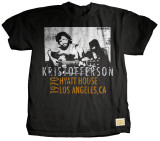 Kris Kristofferson - Relaxing T-shirts by Jim Marshall