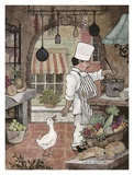 Chef with Goose Posters by Betty Whiteaker