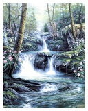 Blue Ridge Falls Art by Egidio Antonaccio