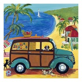 Woody at the Beach Print by Suzanne Etienne
