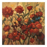 Flower Garden in Bloom Poster af Kanayo Ede
