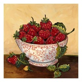 Bowl of Strawberries Print by Suzanne Etienne
