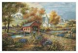 Ponticello sul Razzberry Creek Poster di Carl Valente