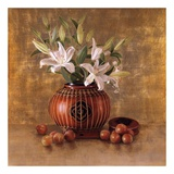 Rice Basket and Plums Plakat af Sherry Loehr