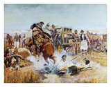 Bronc to Breakfast Poster by Charles Marion Russell