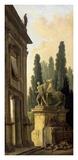 Minstrel Afternoon Poster par Hubert Robert
