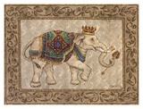 Royal Elephant I Prints by Janet Kruskamp
