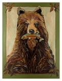 Brown Bear Prints by Suzanne Etienne