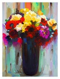 Flowers in a Vase III Art by Hooshang Khorasani