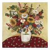 Rooster Vase Floral Posters af Suzanne Etienne