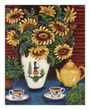 Sunflower Tea Art by Suzanne Etienne