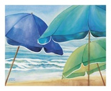 Seaside Umbrellas Prints by Kathleen Denis