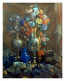 Vases, Flowers, Fruits, 1912 Art by Nikolai Sapunov