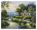 Swan Cottage II Art by Sung Kim