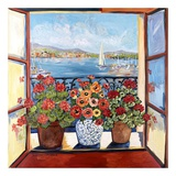 Flowers and Seascape Affiches par Suzanne Etienne