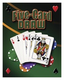 Five Card Draw Art by Mike Patrick