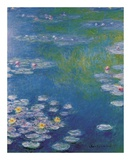 Waterlilies at Giverny Plakat af Claude Monet