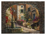 Fountain de Village Posters by Sung Kim