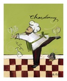Wine Chef Chardonnay Art by Jennifer Sosik