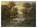 Lagoon at Daybreak Prints by  Montoya