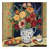 Bouquet en bleu et blanc Pitcher Posters par Suzanne Etienne
