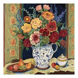 Bouquet in Blue and White Pitcher Posters by Suzanne Etienne