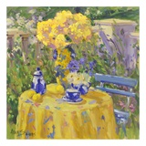 Table in Yellow Prints by Allayn Stevens