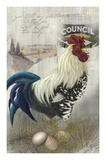 Checkered Past Rooster Poster by Alma Lee