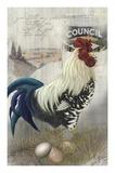Gallo in cornice a scacchiera Poster di Alma Lee