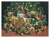 Teddy Bear Christmas Art by Janet Kruskamp