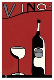 Red Vino Posters by Joel Henriques