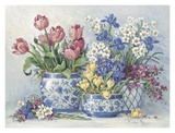 Spring Garden in Blue I Prints by Barbara Mock
