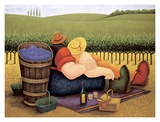 Summer Picnic Posters by Lowell Herrero