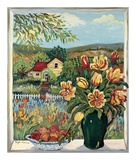 Farmland View Posters by Suzanne Etienne