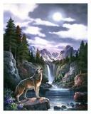 Caroselli: Lobos y la luna Póster por Alma Lee