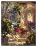 Flowered Courtyard Poster by Betty Carr