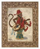 Monkey with Mandolin Art by Janet Kruskamp