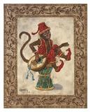 Monkey with Mandolin Art by Janet Kruskamp