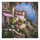 Mediterranean Arches I Poster by Gabriela 