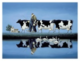 Delta Cows Print by Lowell Herrero