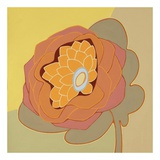 Orange Pop Flower Plakat af Monica Kuchta