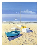 Bateaux Sur La Plage Posters by Henri Deuil