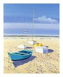 Bateaux Sur La Plage Posters by Henri Deuil