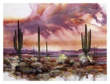 Monsoon Sunset Print by Adin Shade