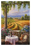 Vineyard and Violin Art by Sung Kim