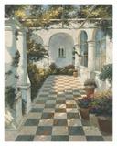 Courtyard Villa II Prints by Vitali Bondarenko