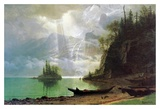 The Island Poster by Albert Bierstadt
