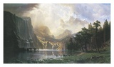 Sierra Nevada in California Poster by Albert Bierstadt