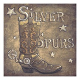 Silver Spurs Print by Janet Kruskamp