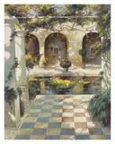 Courtyard Villa I Posters by Vitali Bondarenko
